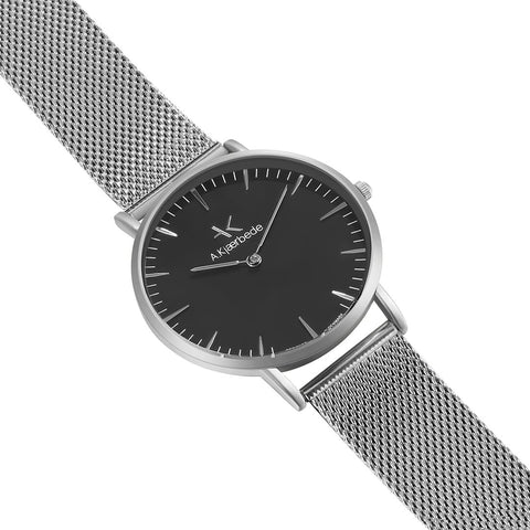 Essential Watch - Silver/Black/Siver Mesh
