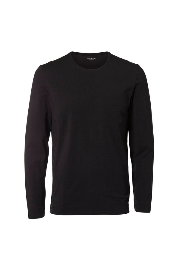 Basic Long Sleeved T-Shirt - O-Neck - Black