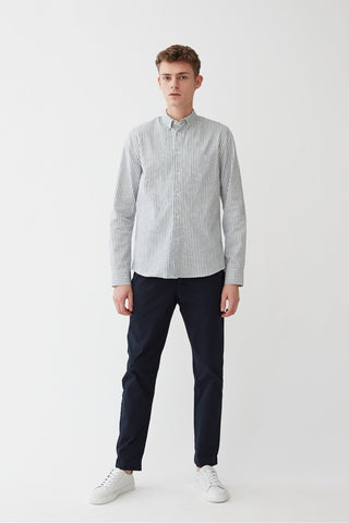 Century Shirt - White/Blue Stripes - Audace Copenhagen