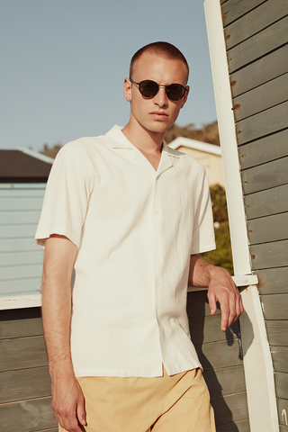 Clark Short Sleeve Shirt - Natural