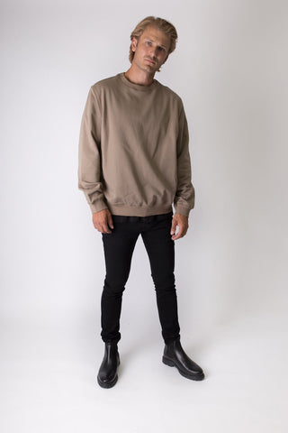 Elias - Sweatshirt - Olive Green - Oversized
