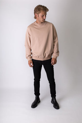 Elias - Sweatshirt - Beige - Oversized