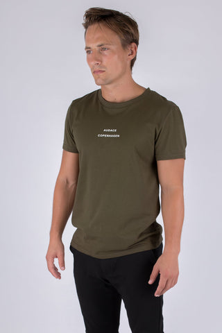 Legacy T-shirt - Army Green w/ White Print