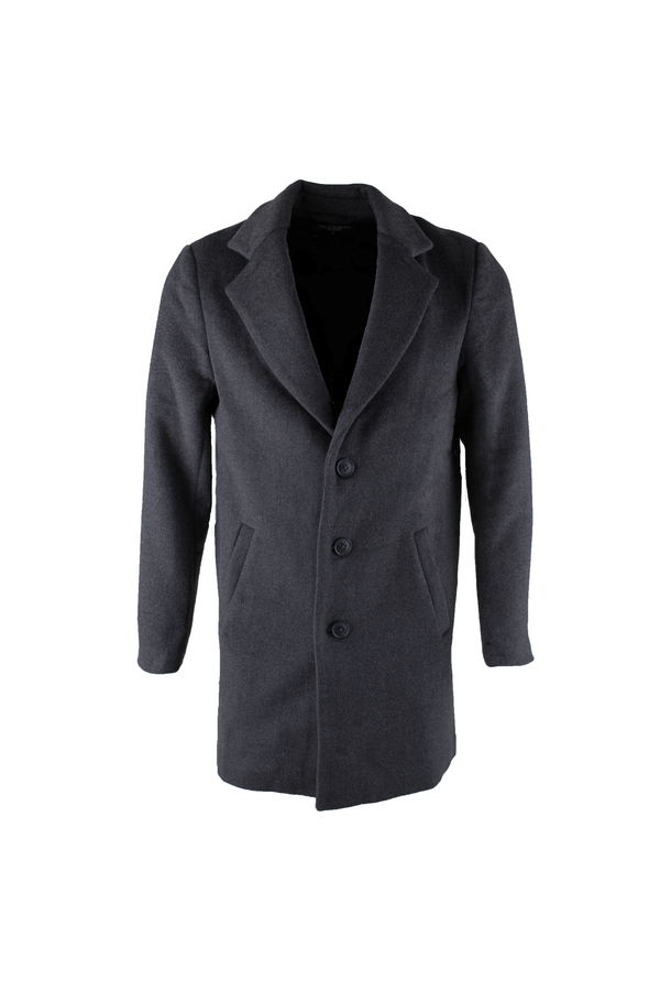 London Wool Coat - Dark Melange Grey