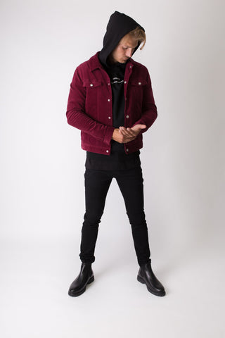 Munich Corduroy Jacket - Bordeaux