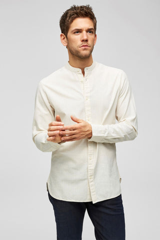 Oyster Gray Stripes - China Shirt