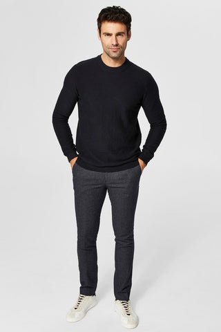 Page Cashmere Camp Crew Neck - Black
