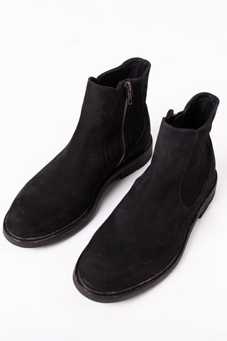 Peter - Chelsea Boots - Black Suede Leather