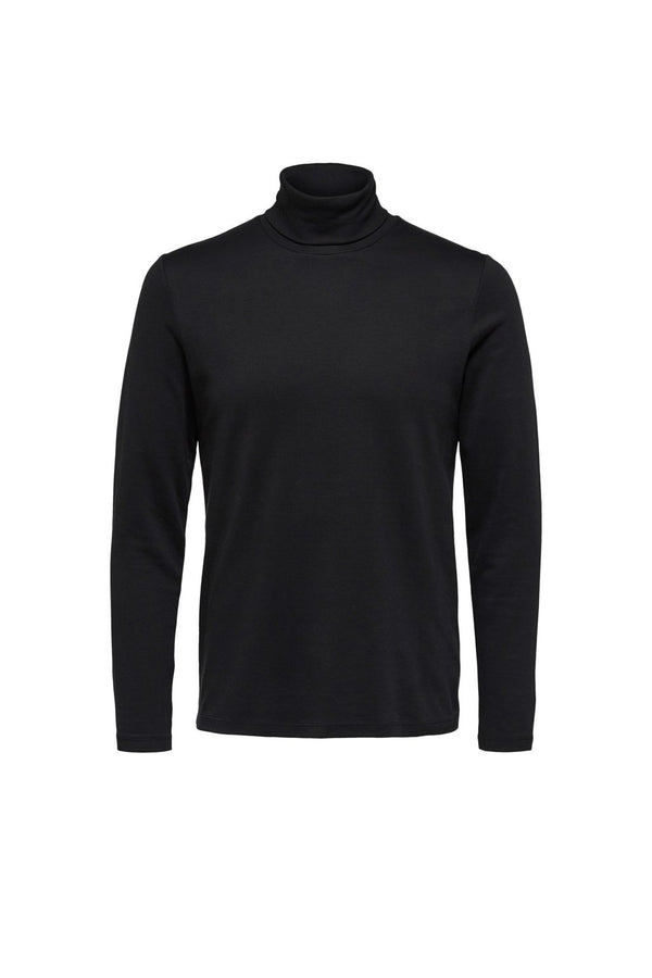 Rocky LS Roll Neck Tee - Black