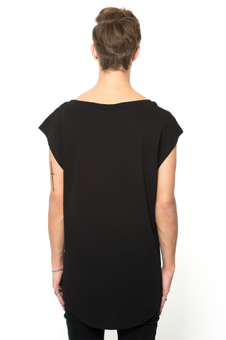 Sleeveless Tee - Black