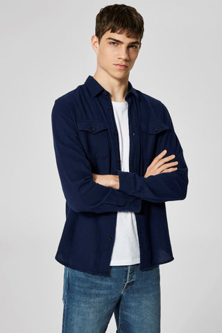 Worker Shirt - Night Sky Blue - Audace Copenhagen