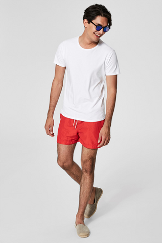 Classic Color Swim Shorts - Red