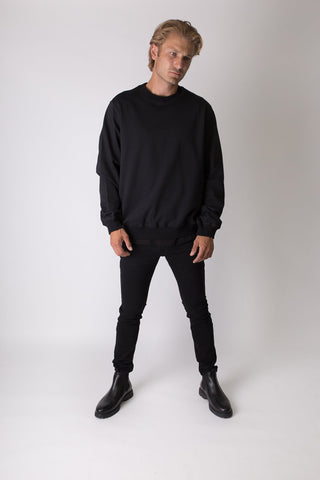 Elias - Sweatshirt - Black - Oversized