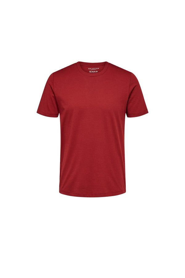 The Perfect SS O-Neck Tee - Sun-Dried Tomato - Audace Copenhagen