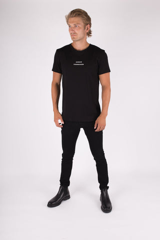 Legacy T-shirt - Black w/ white print