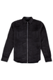 Leon Faux Suede Shirt - Black