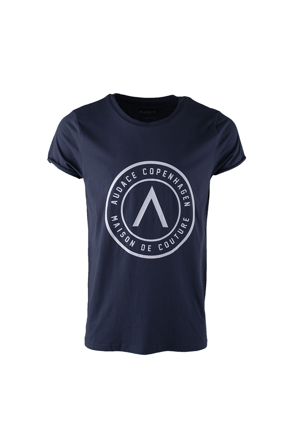 Maison De Couture T-Shirt - Navy Blue with White Print