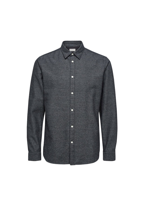 Andrew-Camp Shirt - Dark Grey Structure