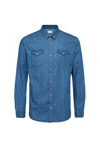 Nonened Shirt - Light Blue - Denim