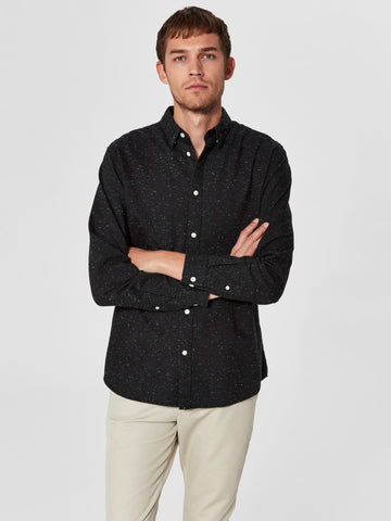 Carter Shirt - Dark Navy Grey
