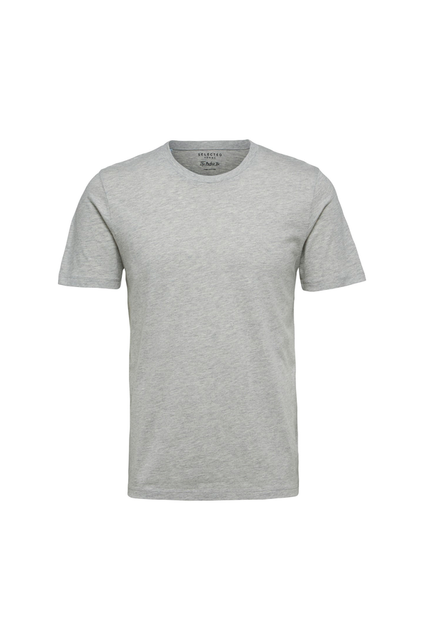 The Perfect Tee - O-Neck - Light Grey Melange
