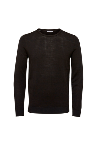 Tower Merino Crew Neck - Black