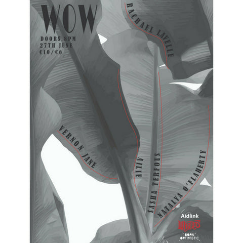 Wow at Whelans Wed June 27th feat Vernon Jane, Ailie., Rachael Lavelle, Sasha Terfous, Natalya O'Flaherty and MC Eve Darcy