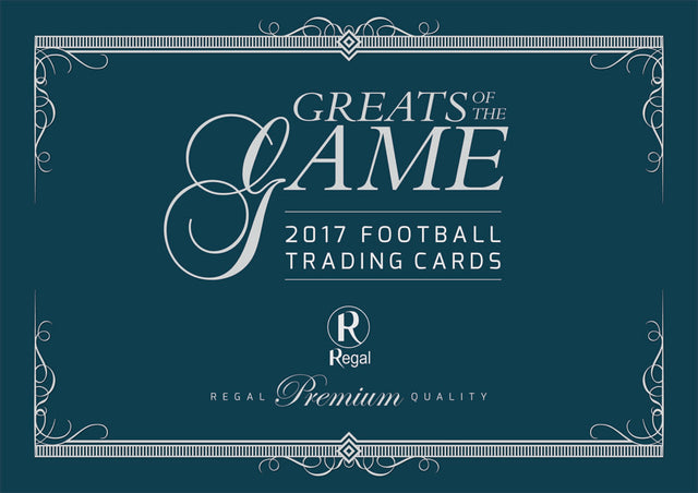 2017-18 Regal Football Greats of the Game Sealed Hobby Case