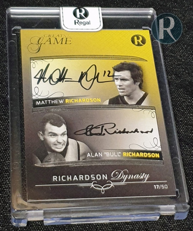 2021 REGAL GREATS OF THE GAME RICHARDSON DYNASTY DUAL SIGNATURE CARD
