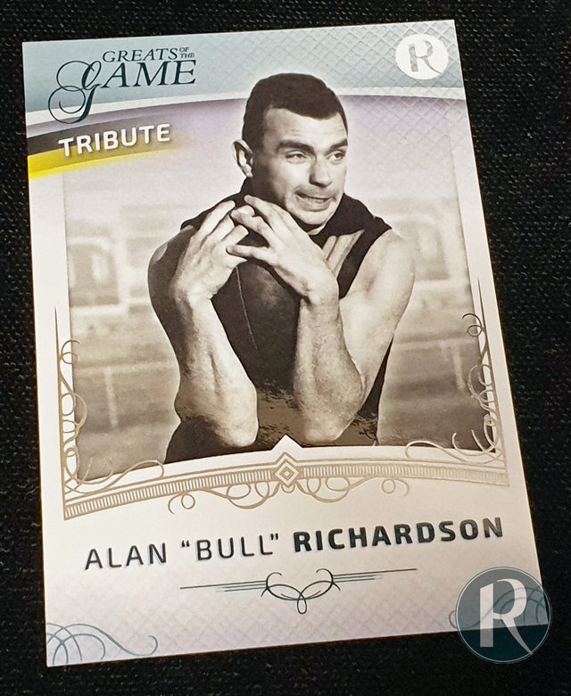 "2021 REGAL GREATS OF THE GAME ALAN ""BULL"" RICHARDSON UPDATE TRIBUTE CARD"