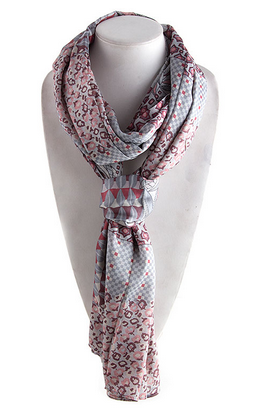 Multi Abstract Print Scarf by My100Brands - My100Brands