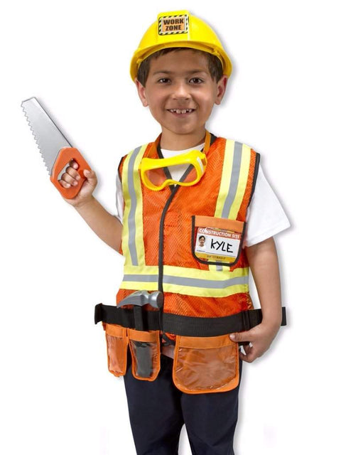 Melissa & Doug Construction Worker Role Play Costume Set by Melissa & Doug - My100Brands