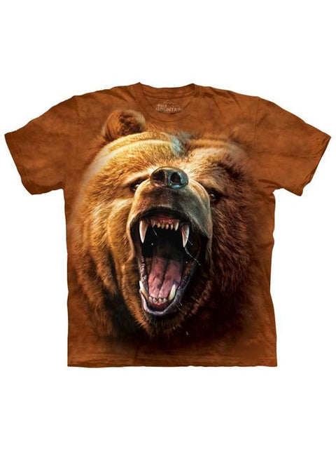 Grizzly Growl T-Shirt by The Mountain - My100Brands