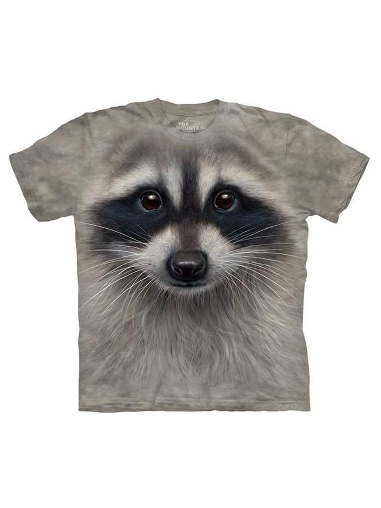 Raccoon Face T-Shirt by The Mountain - My100Brands