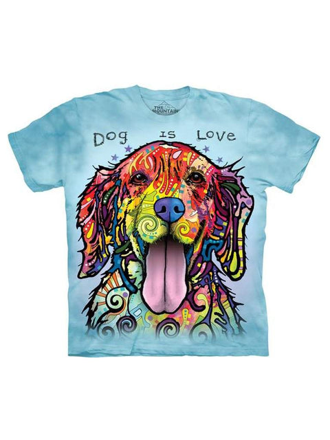 Dog Is Love T-Shirt by The Mountain - My100Brands
