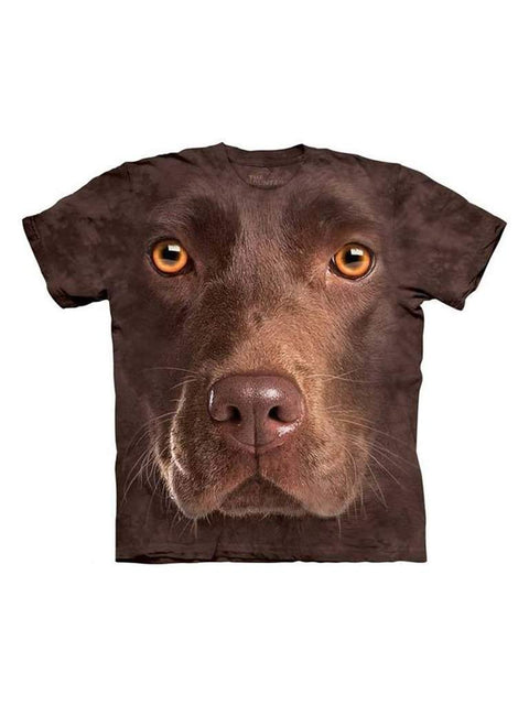 Chocolate Lab Face T-Shirt by The Mountain - My100Brands