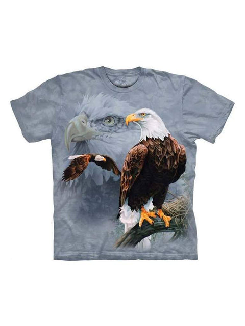 Eagle Collage T-Shirt by The Mountain - My100Brands