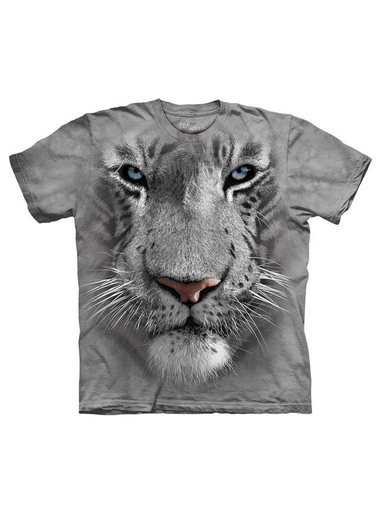 White Tiger Face T-Shirt by The Mountain - My100Brands