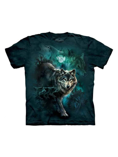 Night Wolves Collage T-Shirt by The Mountain - My100Brands