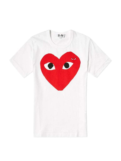 Comme des Garcons Play Double Heart Logo Tee by Play - My100Brands