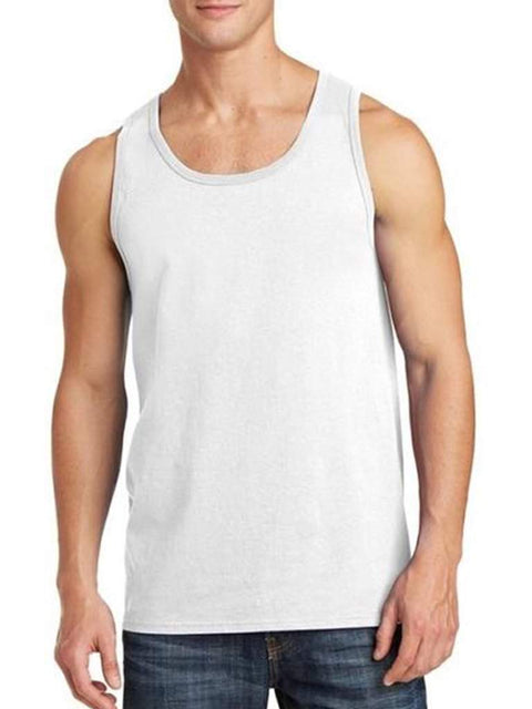 Men's White Tank Top by My100Brands - My100Brands