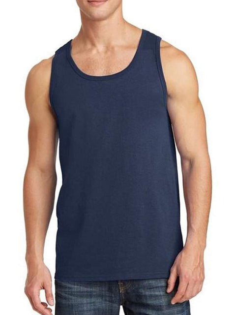 Men's Navy Tank Top by My100Brands - My100Brands
