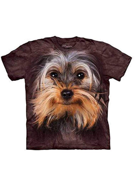 Yorkshire Terrier Face T-Shirt by The Mountain - My100Brands