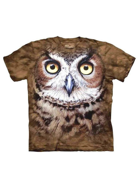 Great Horned Owl Head T-Shirt by The Mountain - My100Brands