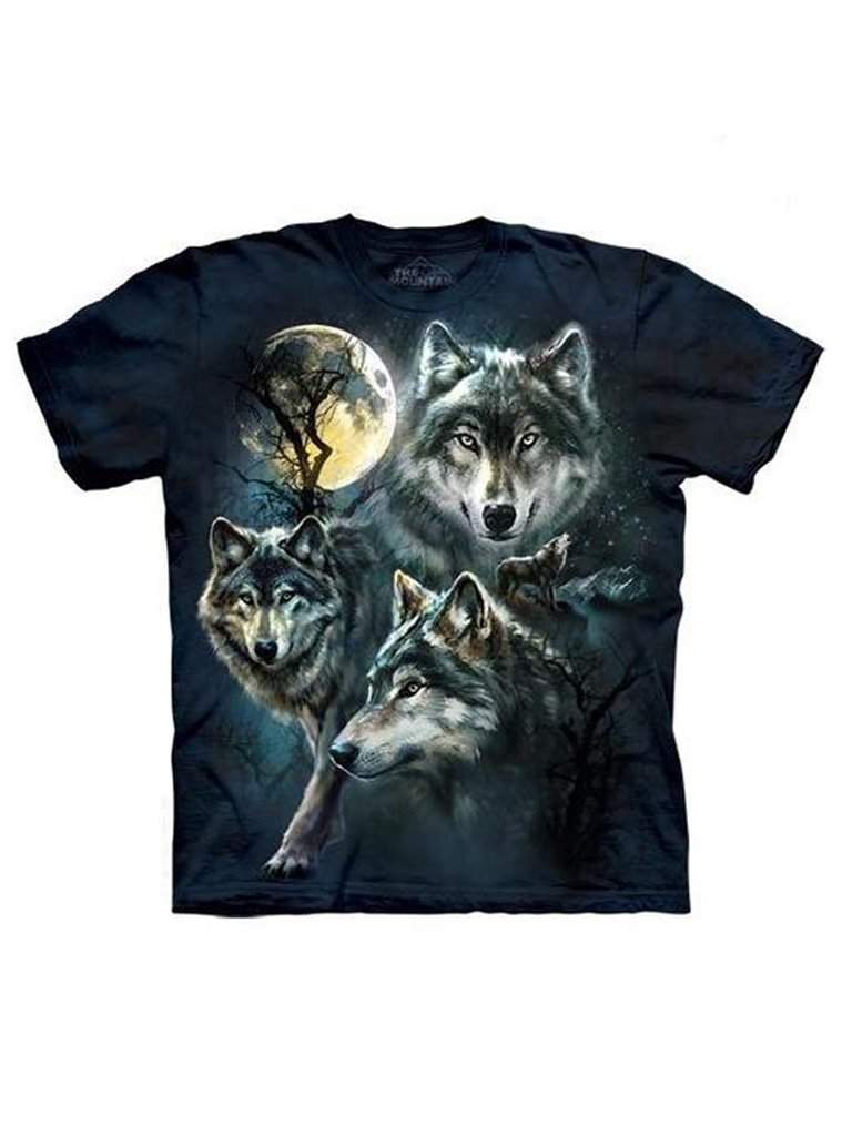 Moon Wolves Collage T-Shirt by The Mountain - My100Brands