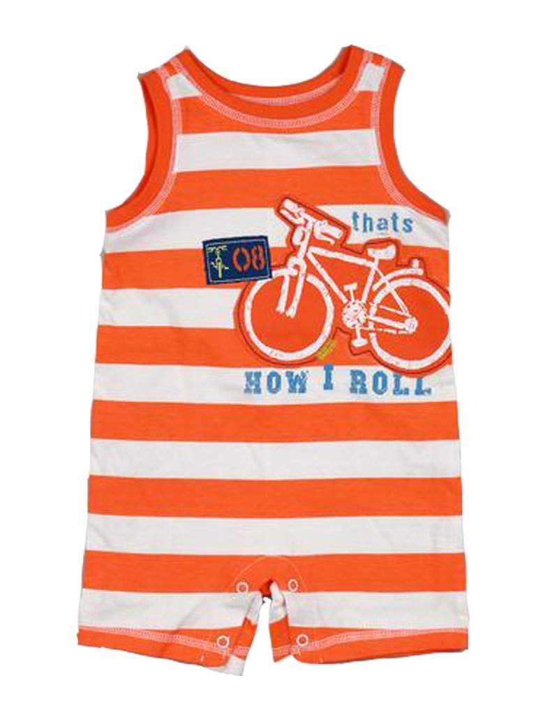 Baby Boys' Stripe Romper by My100Brands - My100Brands