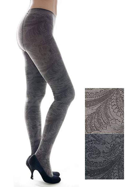 Lady's Gatsby Floral Fashion Tights by My100Brands - My100Brands