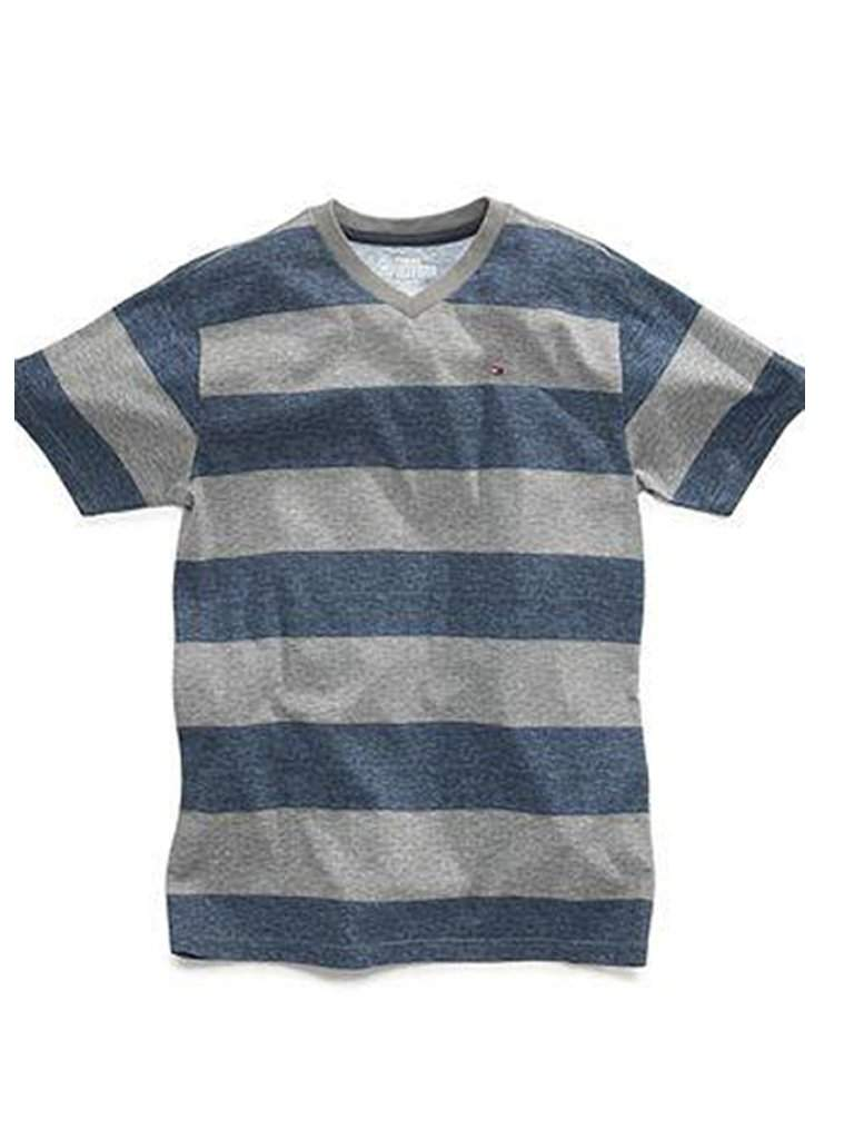 Tommy Hilfiger Big Boys' Stripe V-Neck T-Shirt by Tommy Hilfiger - My100Brands