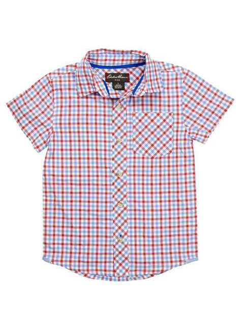 Eddie Bauer Short Sleeve Salmon Shirt by Eddie Bauer - My100Brands