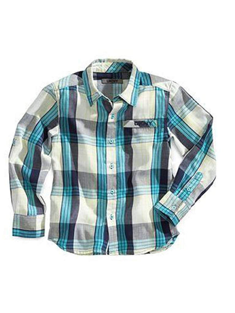 DKNY  Boys' Lumens Plaid Shirt by DKNY - My100Brands